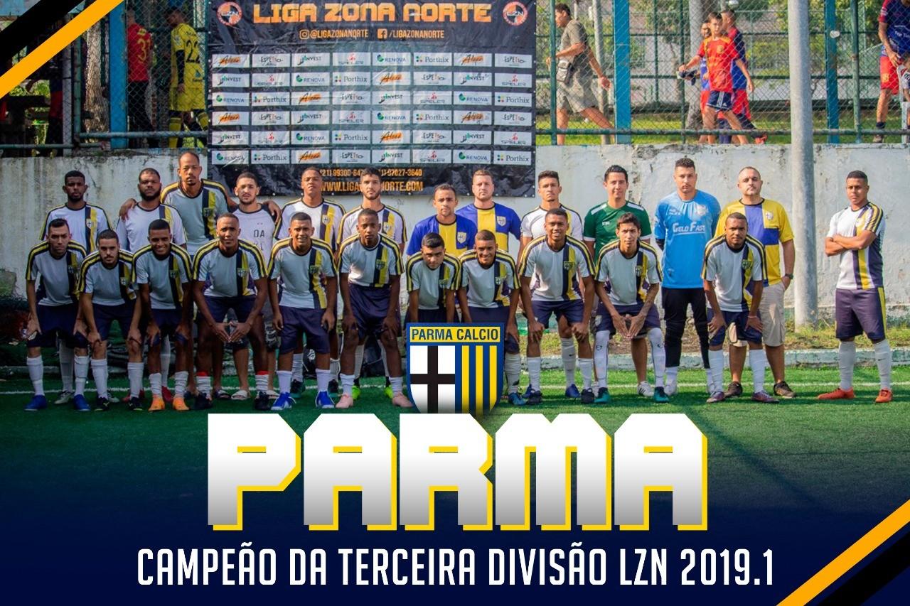 PARMA CAMPEÃO DA TERCEIRA DIVISÃO