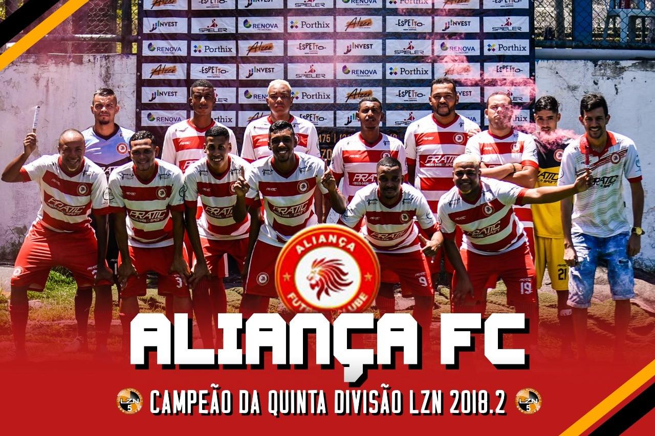 ALIANÇA FC CAMPEÃO DA QUINTA DIVISÃO