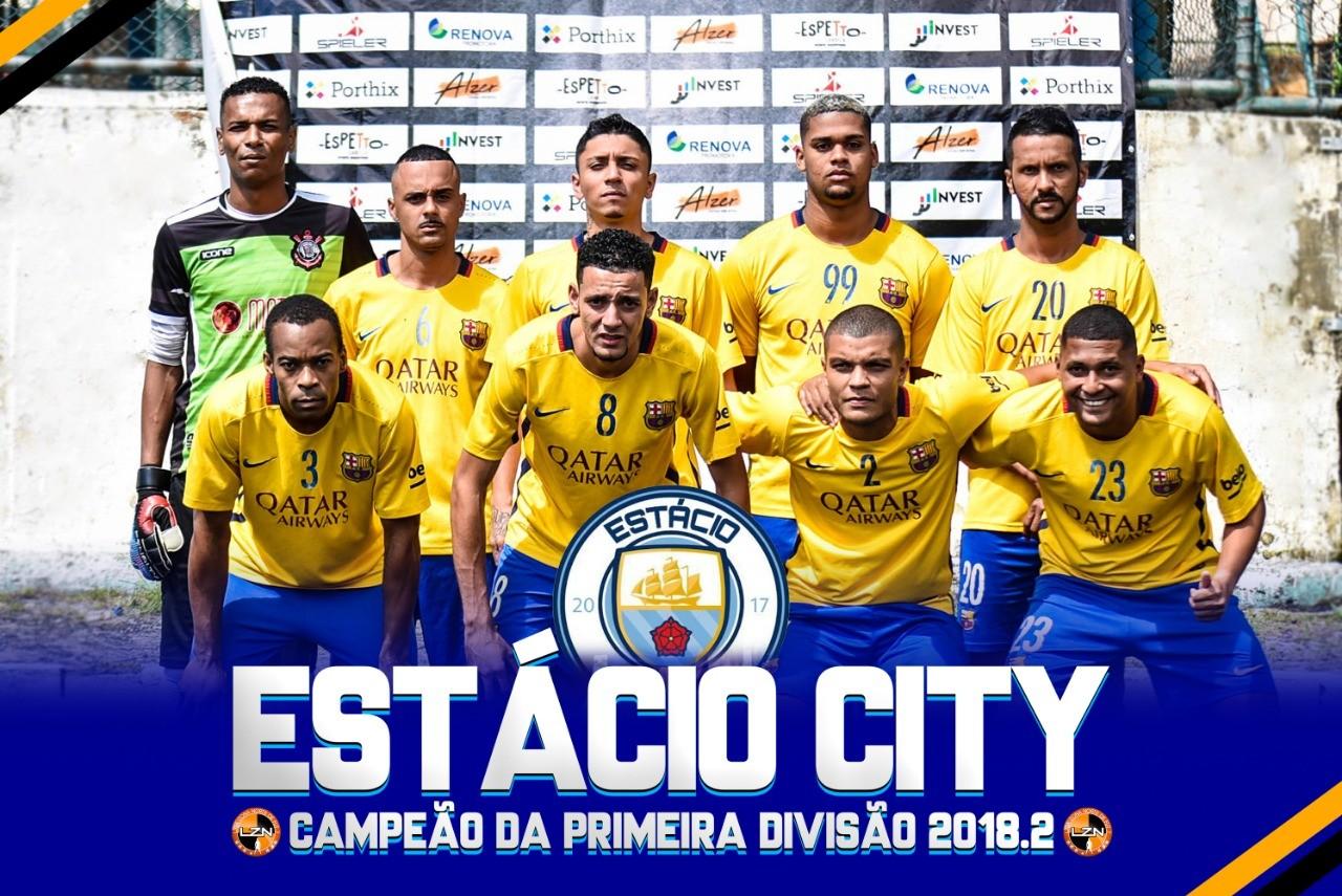 ESTÁCIO CITY CAMPEÃO DA PRIMEIRA DIVISÃO