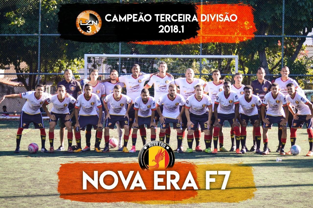 NOVA ERA CAMPEÃO DA TERCEIRA DIVISÃO 18.1