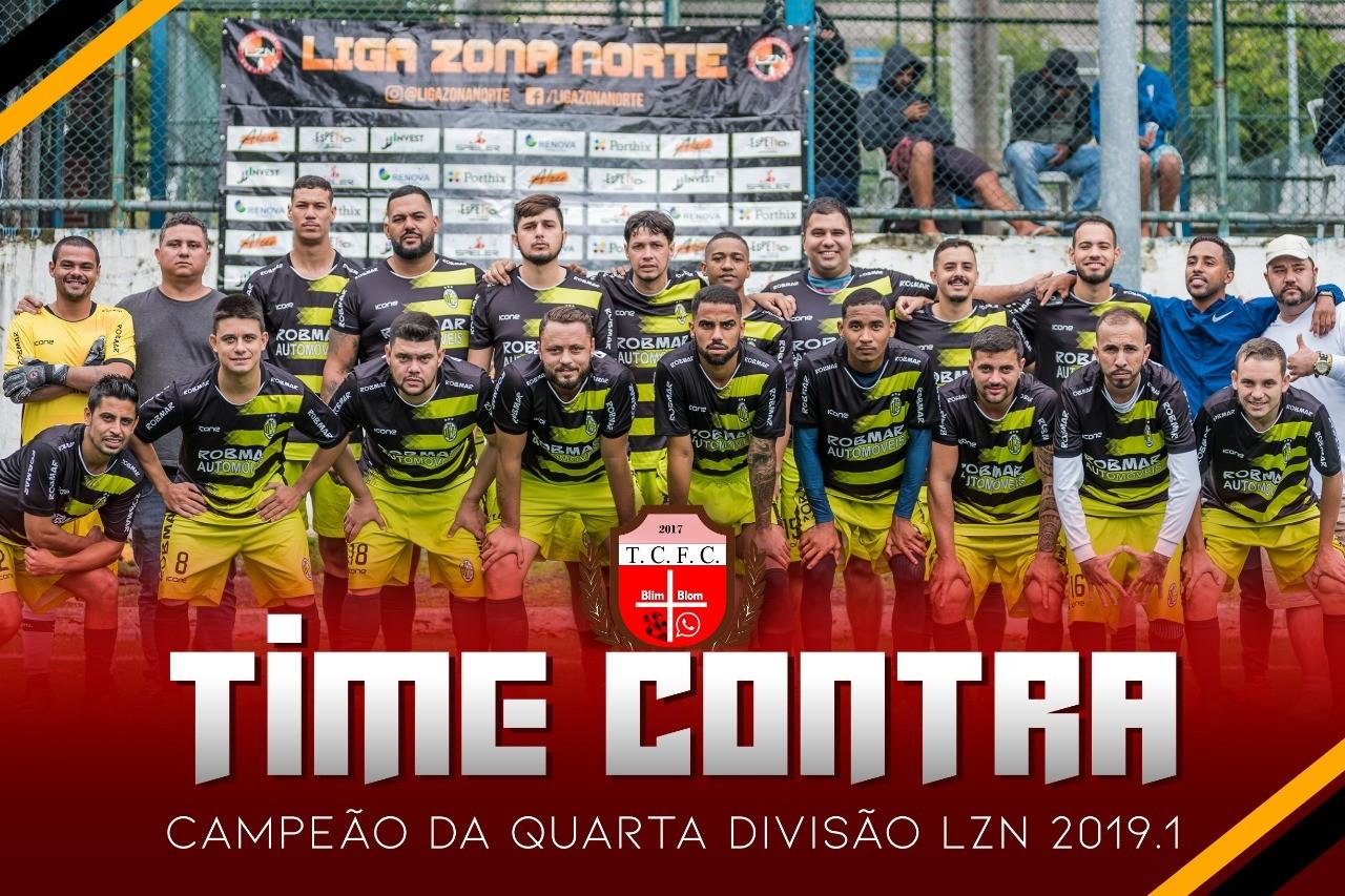 TIME CONTRA CAMPEÃO DA QUARTA DIVISÃO